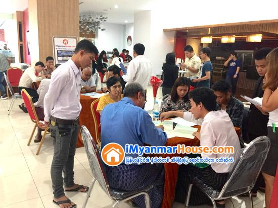 AYA Home Loan ႏွင့္ iMyanmarHouse.com တို႔ ပူးေပါင္းက်င္းပသည့္ တန္ဖိုးသင့္တိုက္ခန္းမ်ားအေရာင္းျပပဲြႀကီး