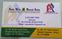 Asia Win and Royal Asia Construction
